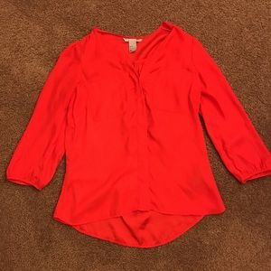 H&M red blouse size: US 2